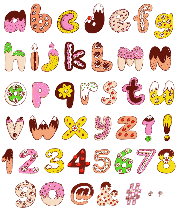 Buy Sweet Alphabet And Enjoy Sweetness Of Candy Typogrpahy