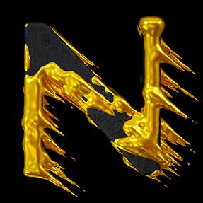 3D Yellow Font