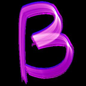Violet Artistic Typeface