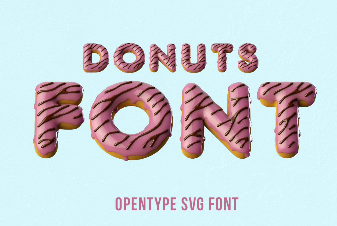 Donuts Font OpenType Typeface SVG