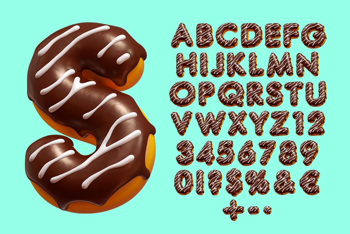 Profiterole OpenType Font alphabet