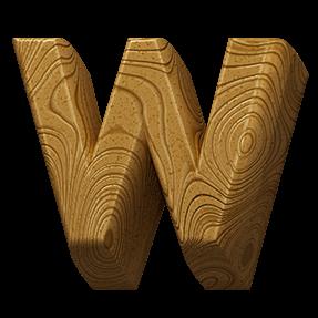3D Wooden Font