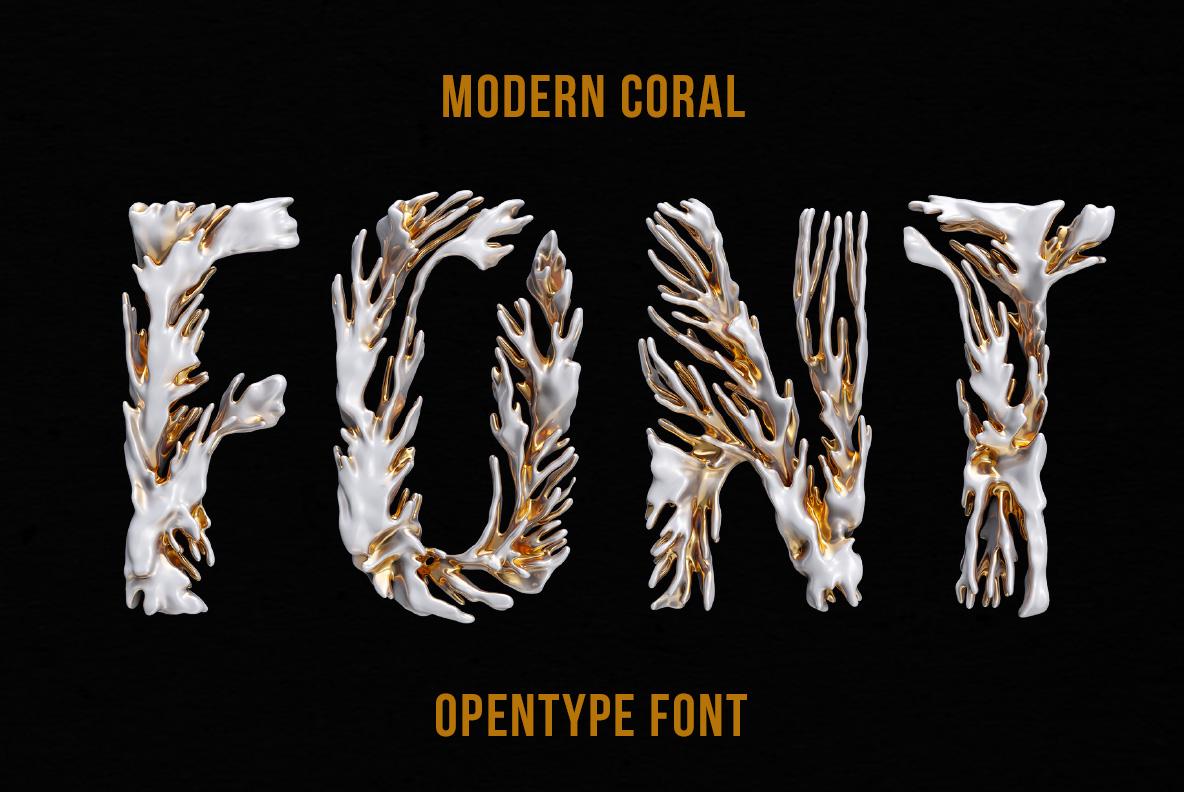 Modern Coral Font OpenType Typeface SVG