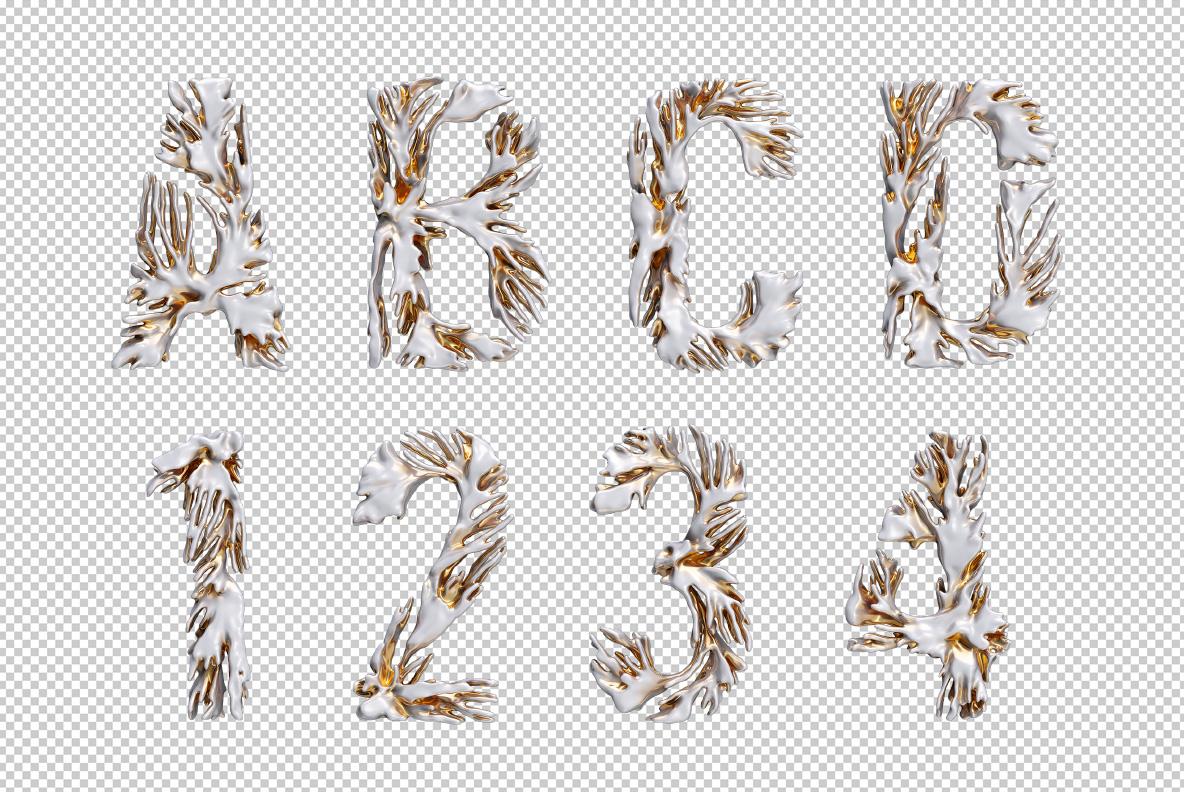 Modern Coral Font OpenType Typeface SVG. Photoshop test