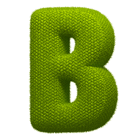 Green Knitted Typography Font