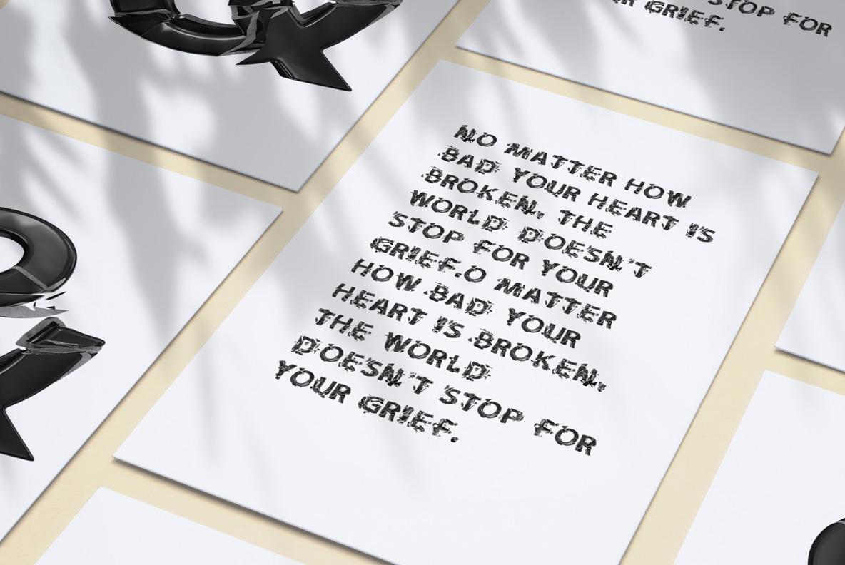 Broken Life Font Black OpenType Font SVG. Poster