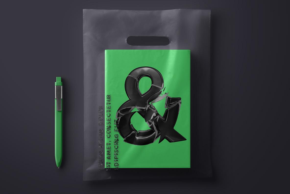 Broken Life Font Black OpenType Font SVG. Cover mockup