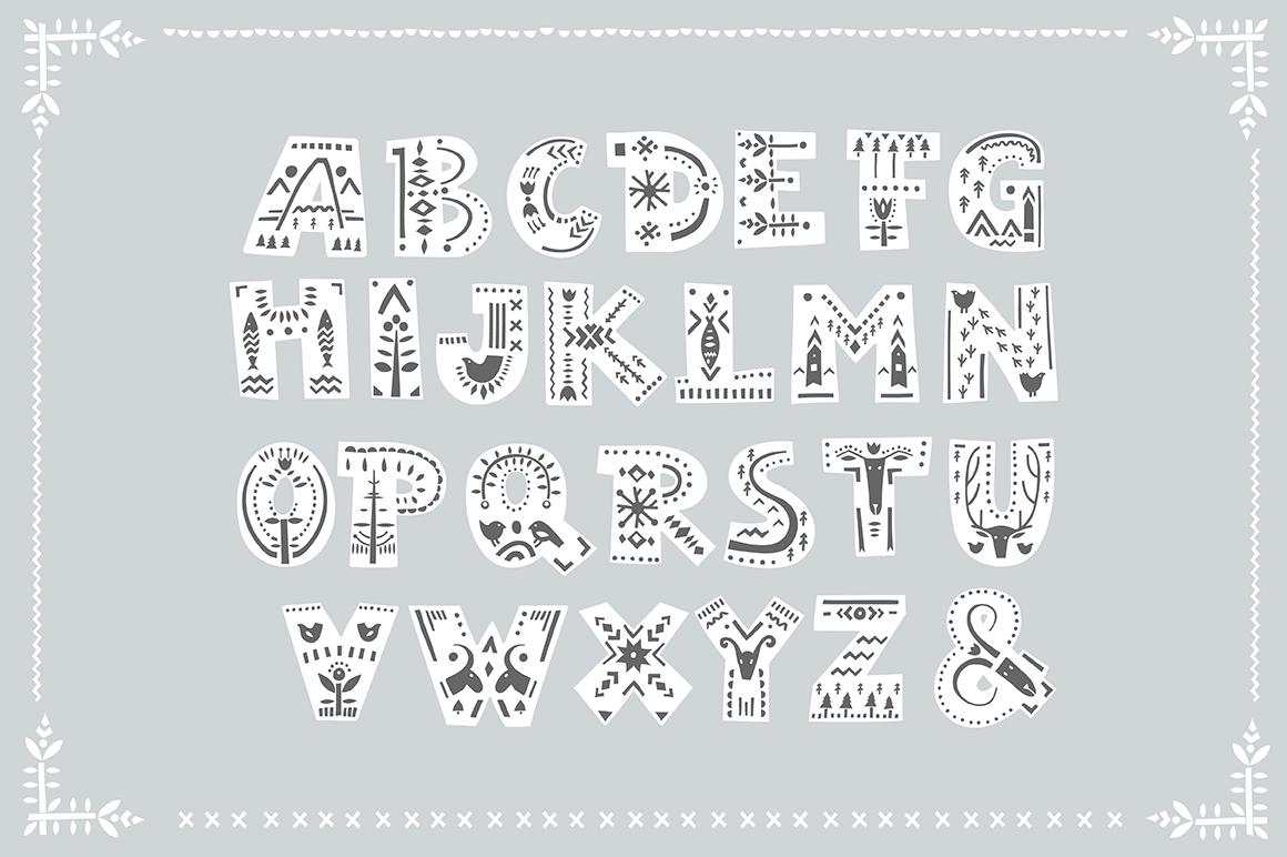 buy folk art font and celebrate diversity with handmade font