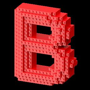 Creative Lego Typeface