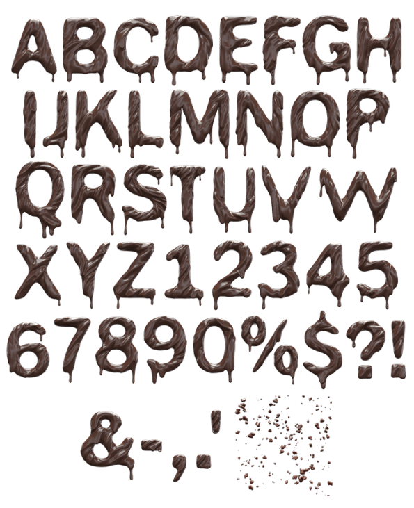 Buy Chocolate 3d Font, Font From Chocolate Typography
