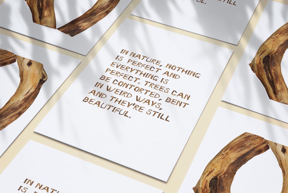 Craft Wood Font OpenType Typeface SVG Poster
