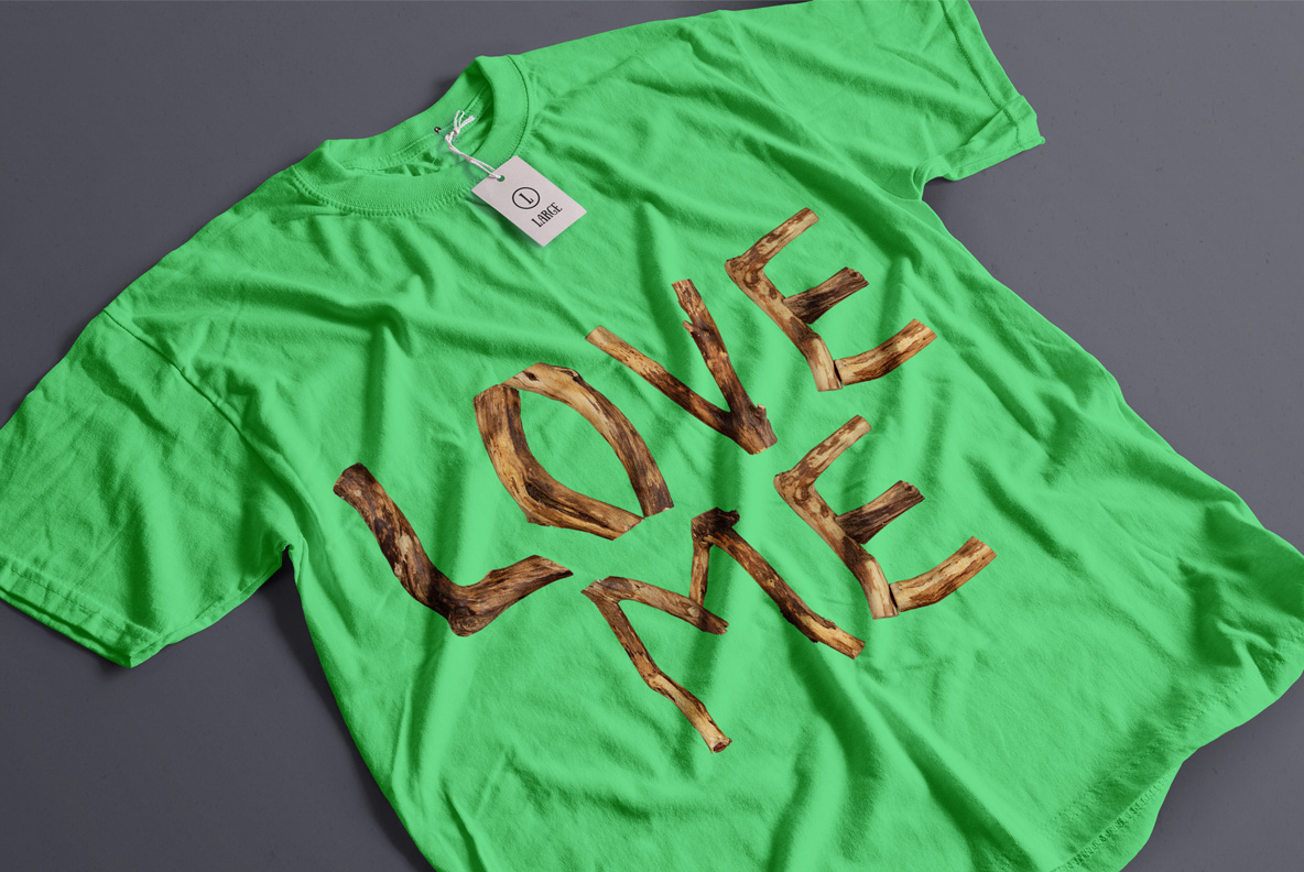 Craft Wood Font OpenType Typeface SVG T-shirt