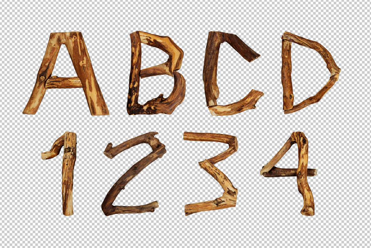 Craft Wood Font OpenType Typeface SVG Photoshop preview