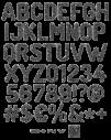 Grey Bolts Font Alphabet - handmadefont