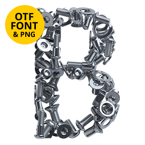 Nuts And Bolts Font Letter B