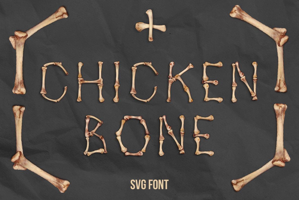 Chicken Bones OpenType SVG Font