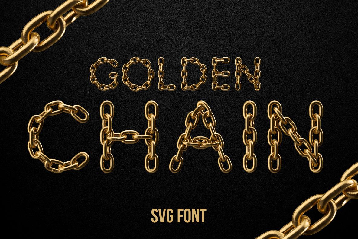SVG Golden Chain Font OpenType