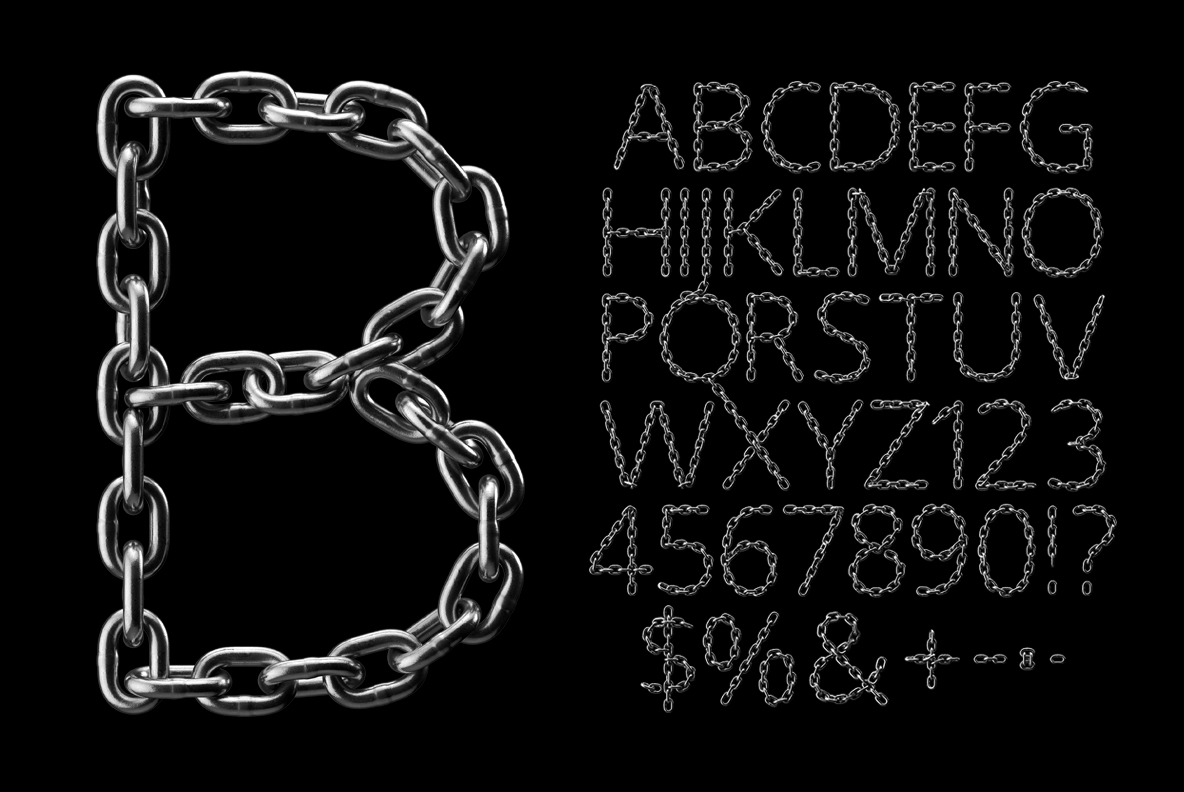 Silver Chain OpenType SVG Font 1