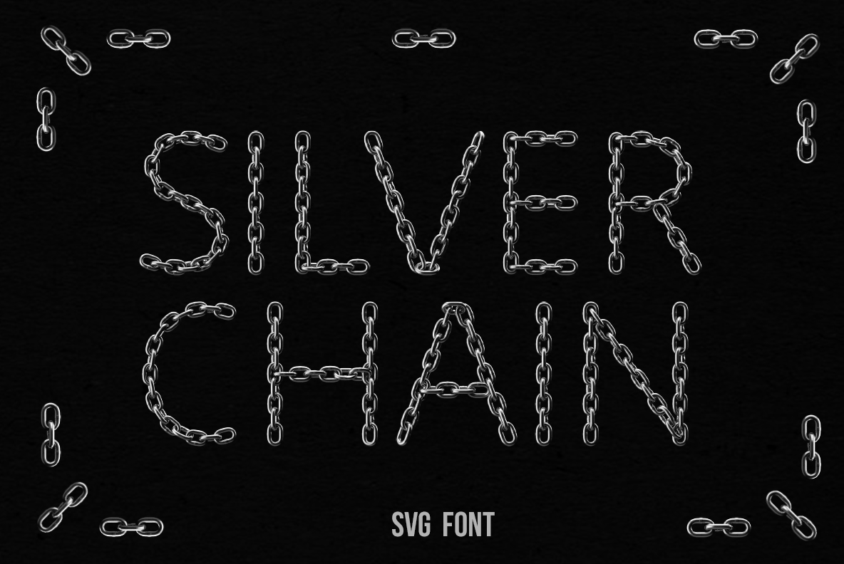 Silver Chain OpenType SVG Font