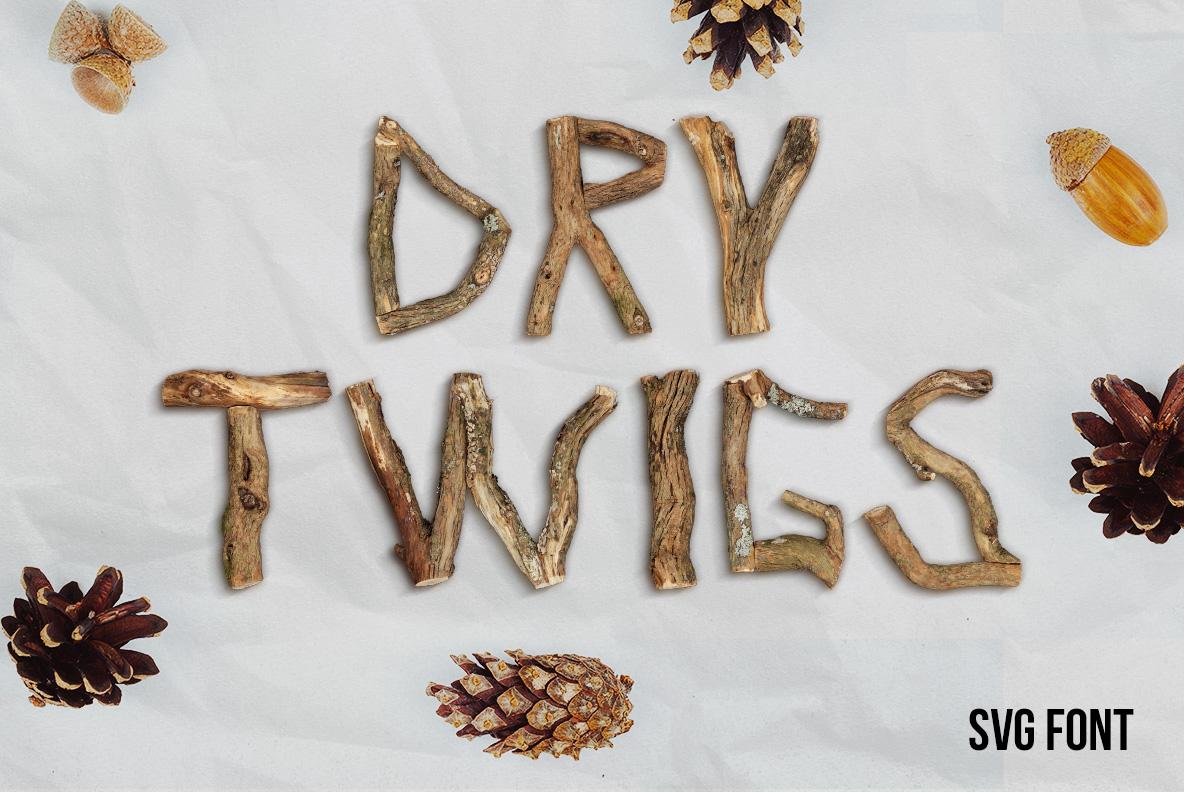 Dry Twigs OpenType-SVG Font