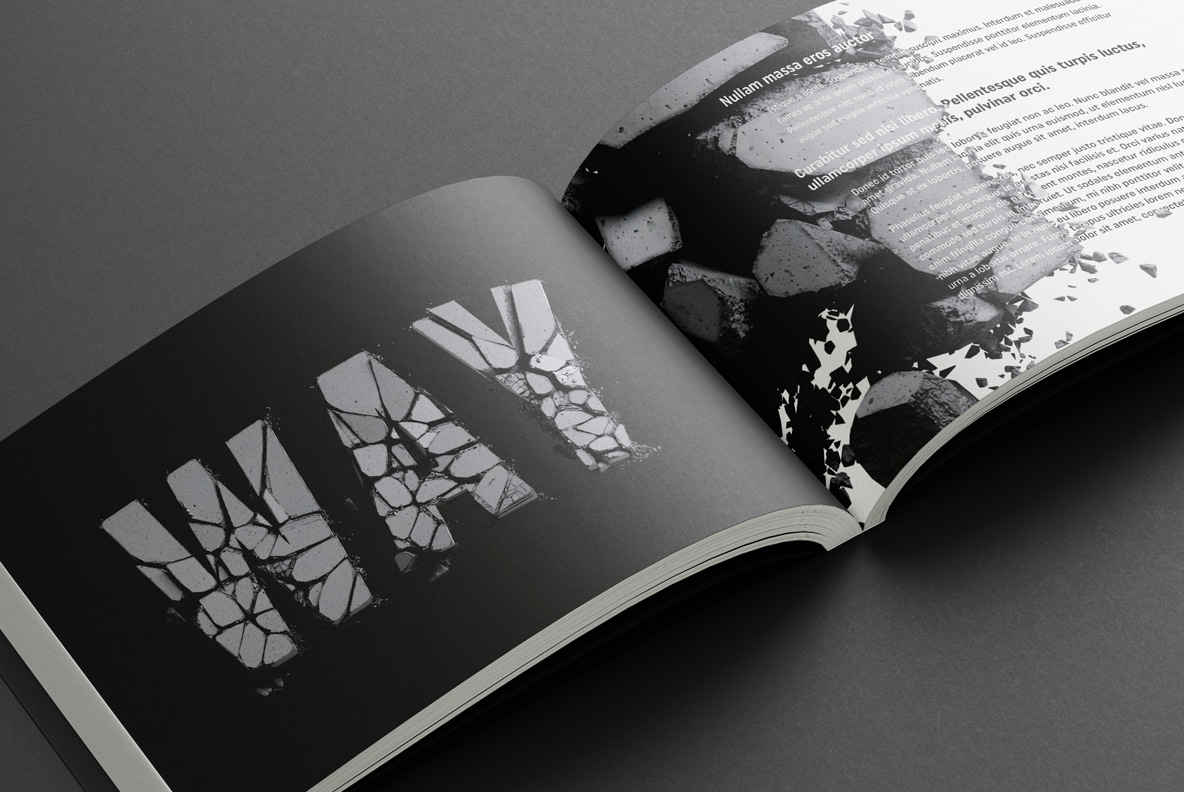 Concrete Font OpenType opened book