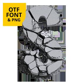 Concrete Font Opentype Letter S SVG typeface