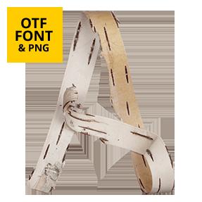 Birch Font OpenType Letter A