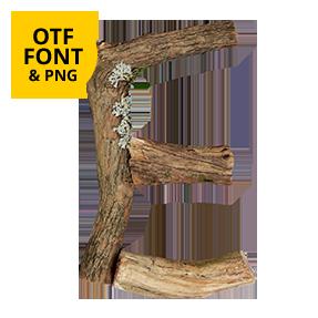 Dry Twigs Font OpenType Letter E