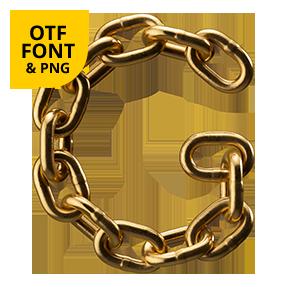 Golden Chain Font OpenType Letter G