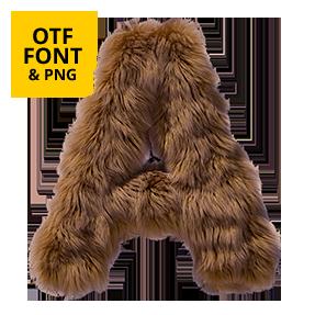 Teddy Bear Font OpenType Letter A