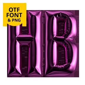 Happy Birthday Font Opentype Letter HB