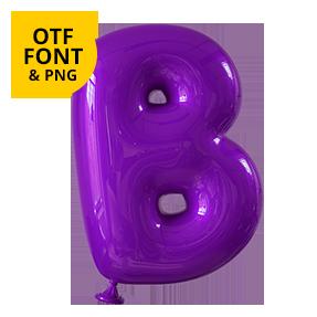 Happy Balloon Font OpenType Letter B