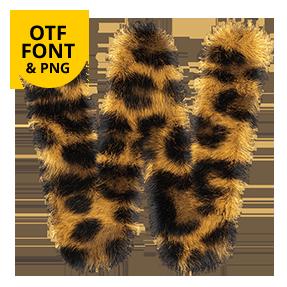 Leopard Font OpenType SVG. Animal Font
