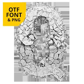 Particle Rock Font Opentype Letter Q SVG