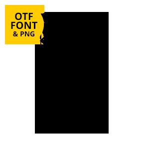 Tangle Font OpenType Letter B SVG