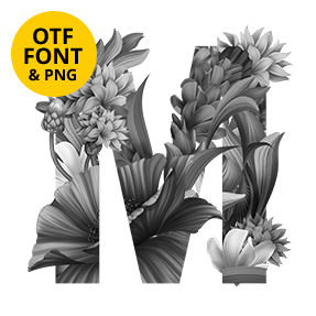 Wacomka Flowers Font OpenType SVG