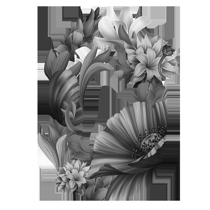 Wacomka Flowers Font Font Letter O