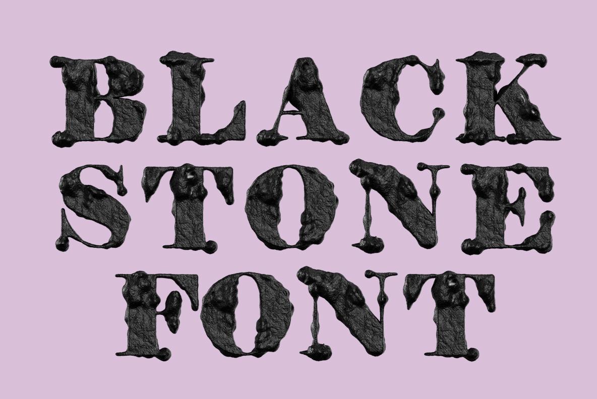 Black Stone Font OpenType Typeface SVG. Font cover