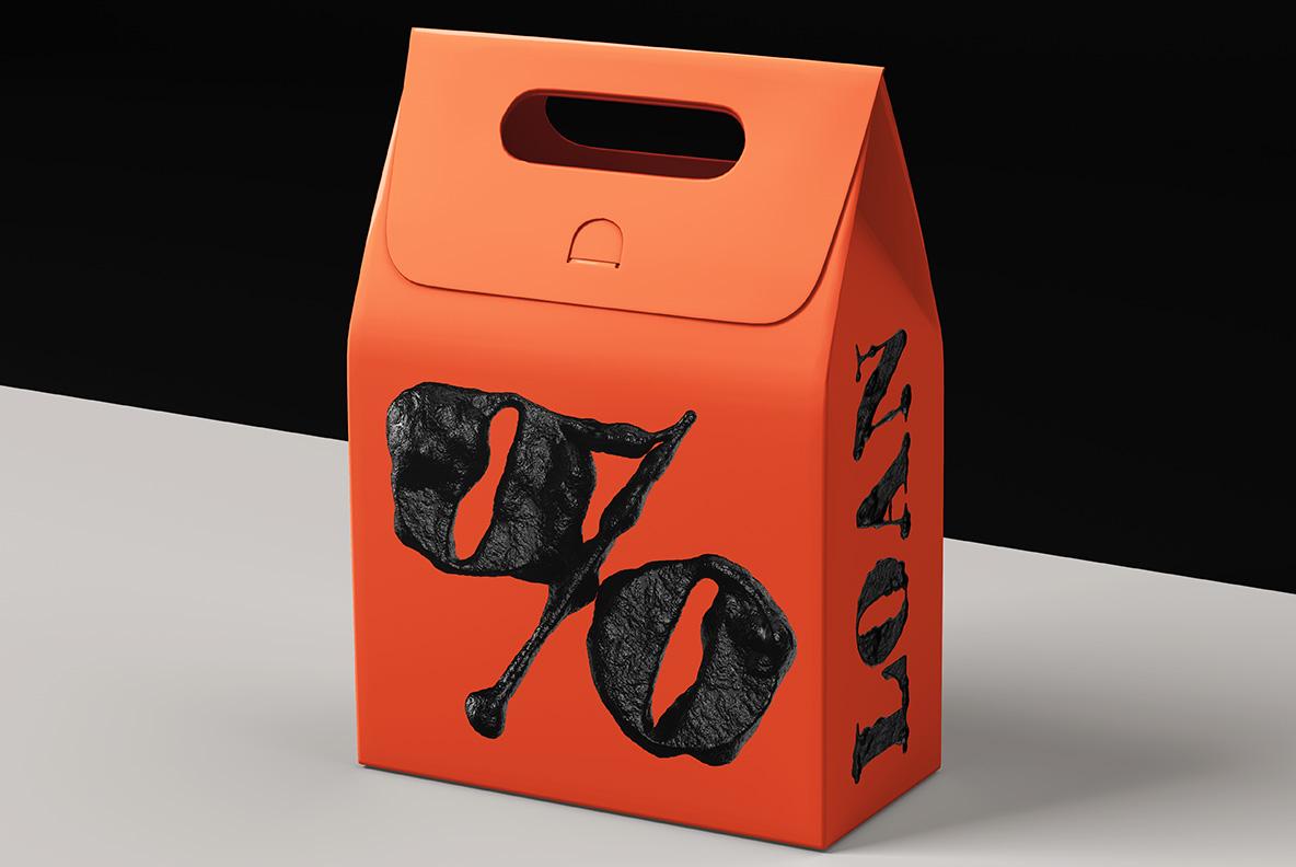 Black Stone Font OpenType Typeface SVG. Box with stone font