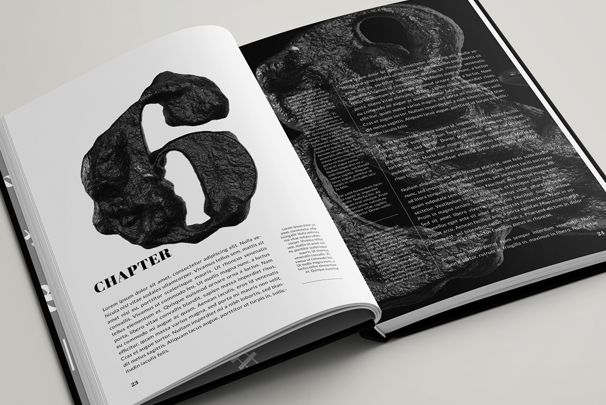 Black Stone Font OpenType Typeface SVG. Opened book with stone font