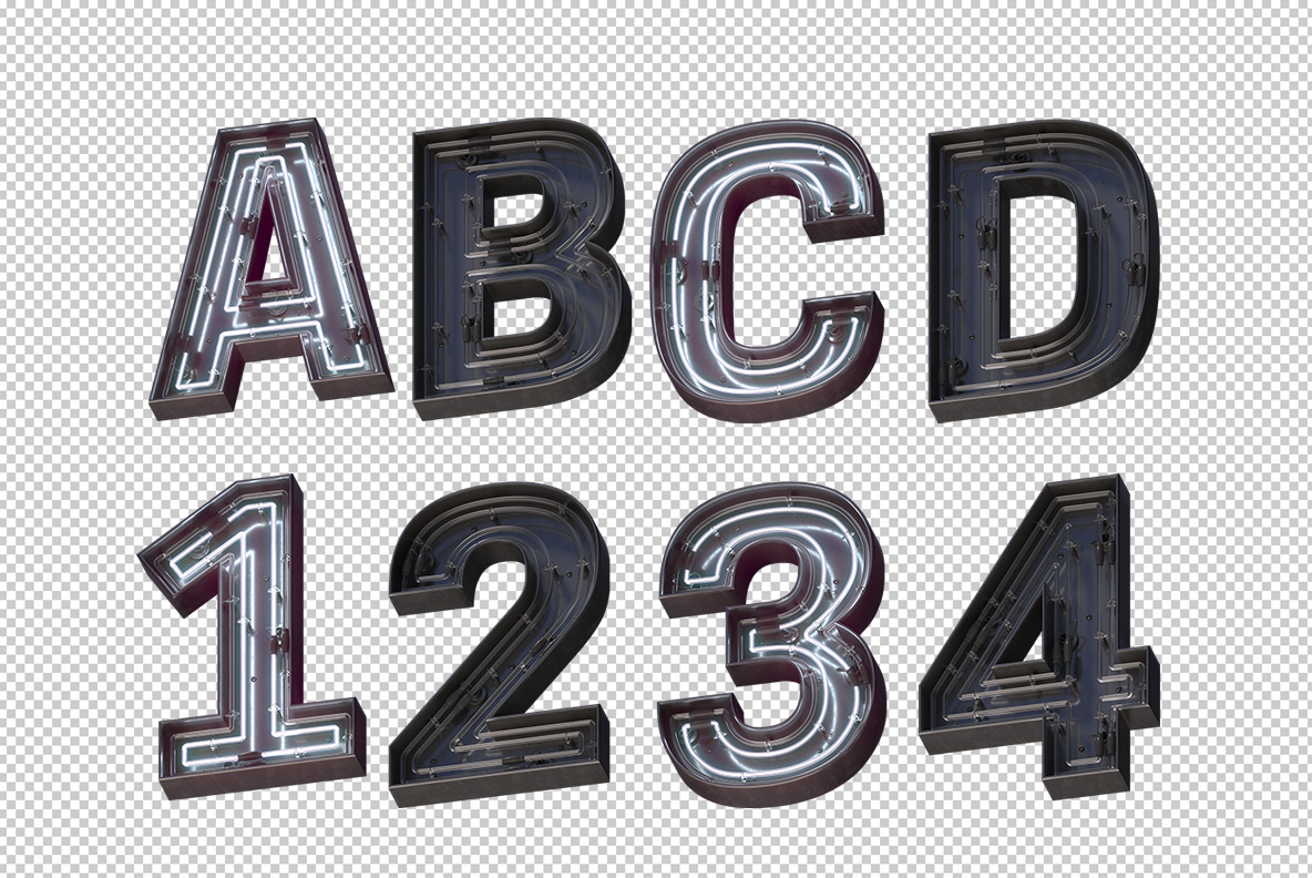 Photoshop test with On-Off Font