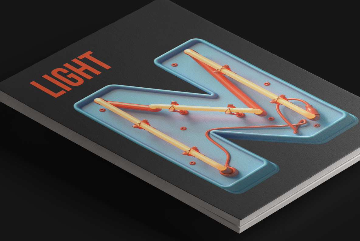 Toy Neon Font magazine cover