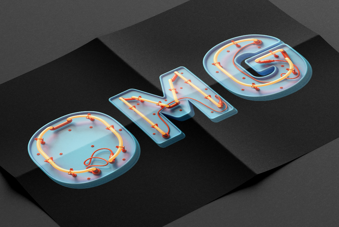 Toy Neon Font poster