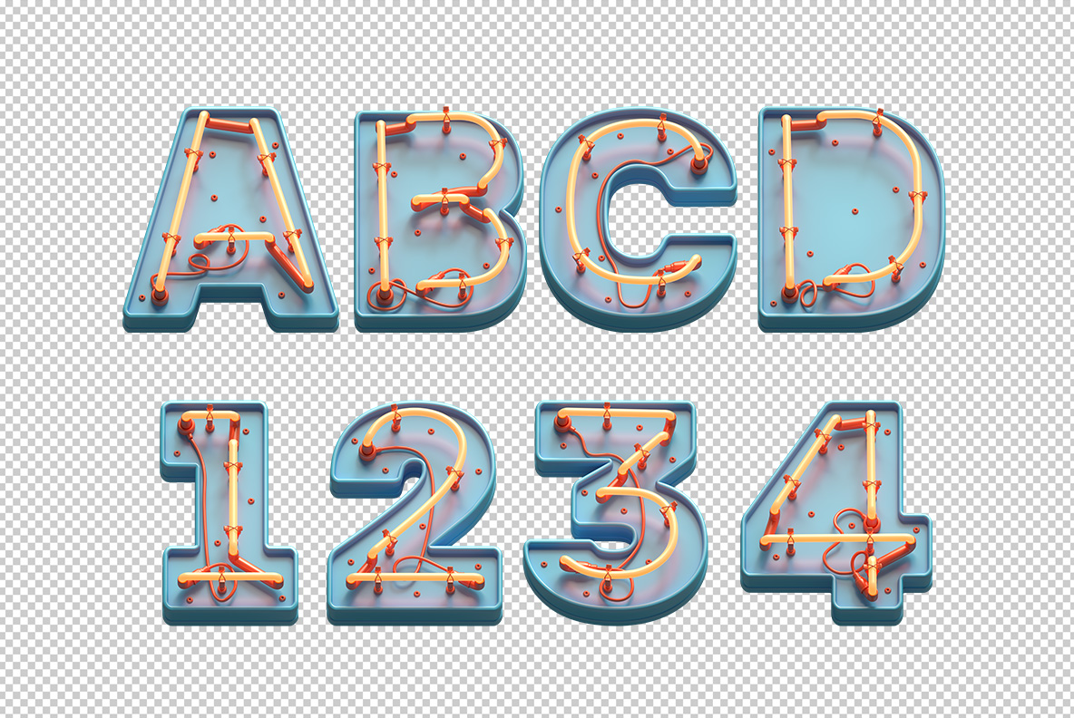 Toy Neon Font