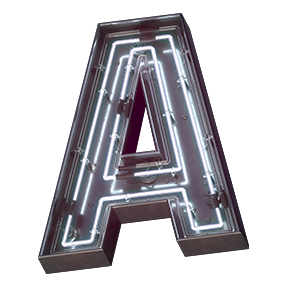 Cover of the On-Off Font Letter A