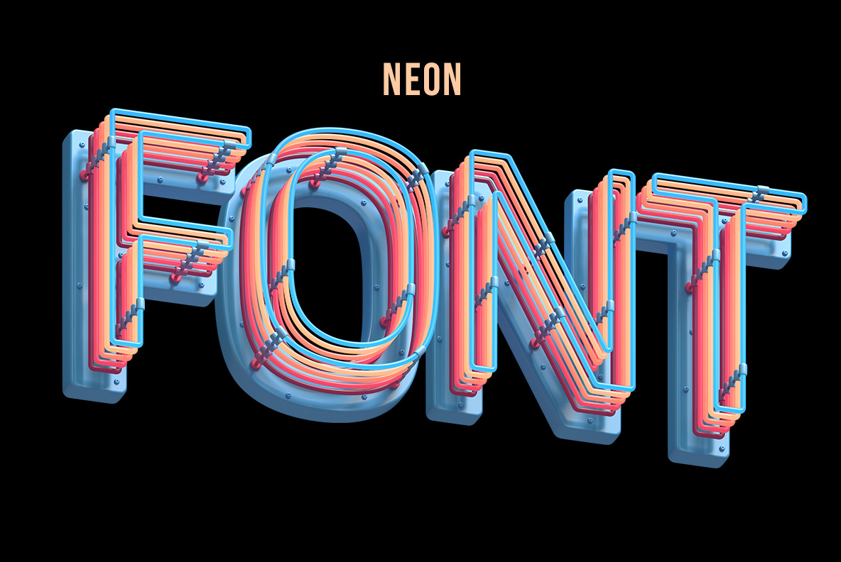 Cover of the Plastic Neon Font