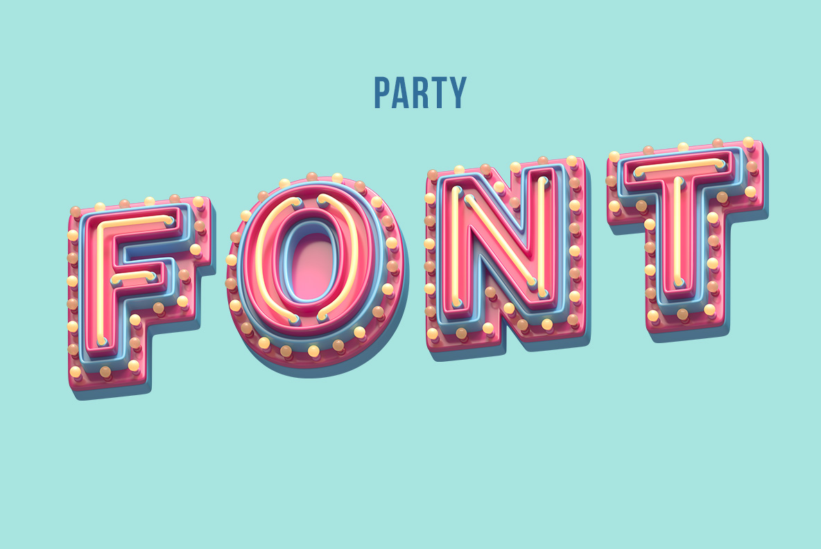 Cover of the Plastic Party Font