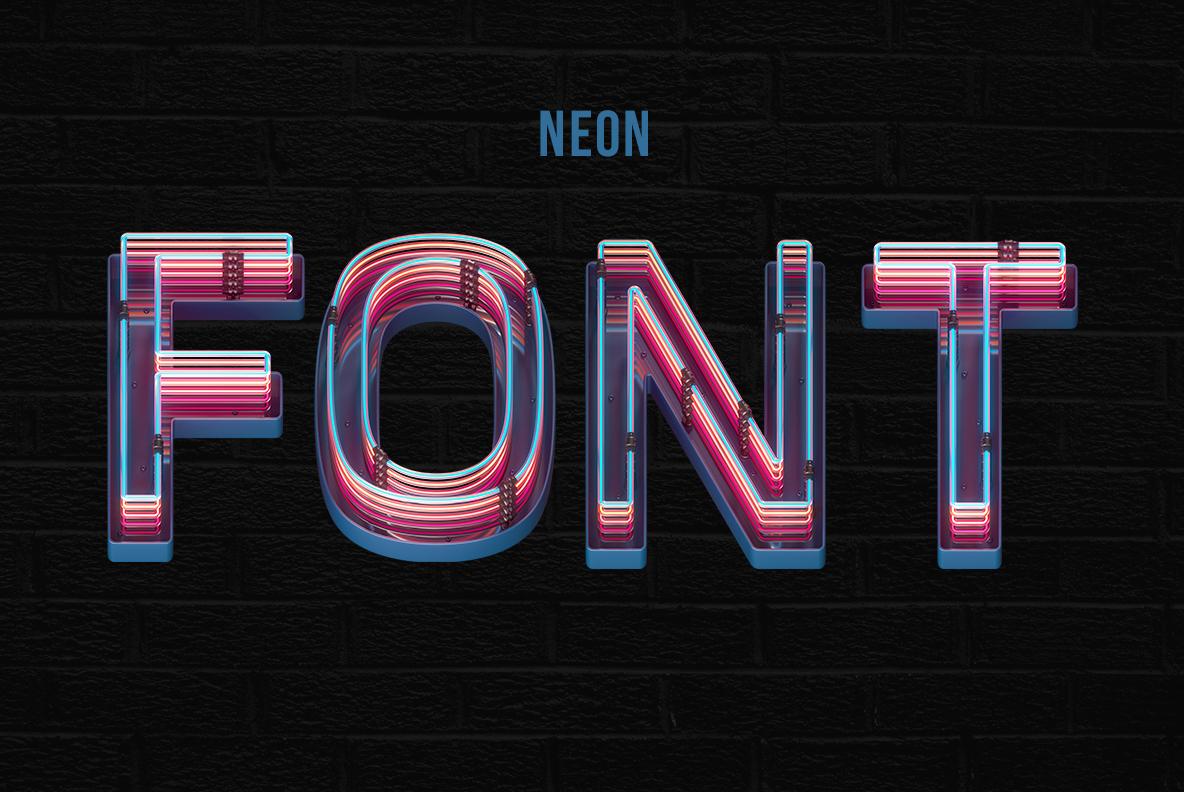 Cover of the Retro Neon Font