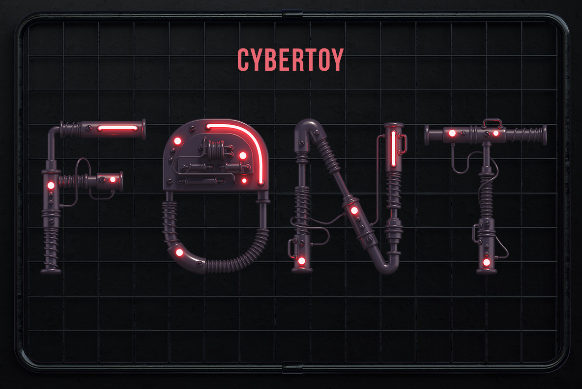 Cover of the Cyber Toy Font